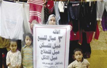 Egypt's deteriorating economy forces mother puts her own children up for sale