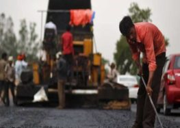 Building roads from plastic waste in India