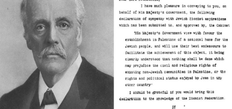 The Balfour Declaration – 100 years on