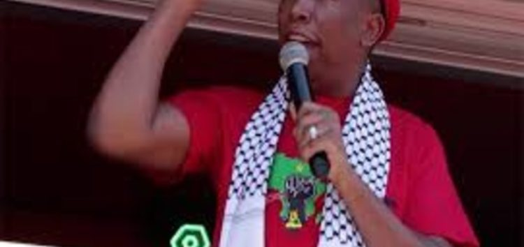Malema calls for cutting all ties with 'apartheid' Israel