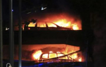 Accidental fire within a vehicle caused all other cars to ignite in Liverpool car park blaze