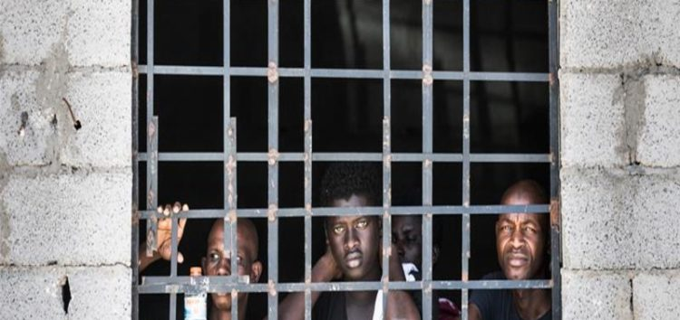 Torture and  abuse: Life inside a container for migrants in Libya's slave market