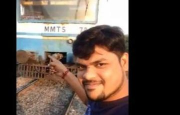 Another selfie situation gone bad- this time in front of a speeding train