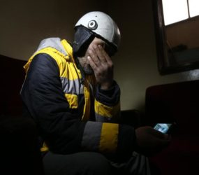 Member of Syria rescue team pulls own mother from rubble of Eastern Ghouta air strike