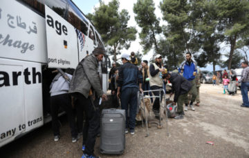 Evacuations underway, residents say goodbye to Eastern Ghouta