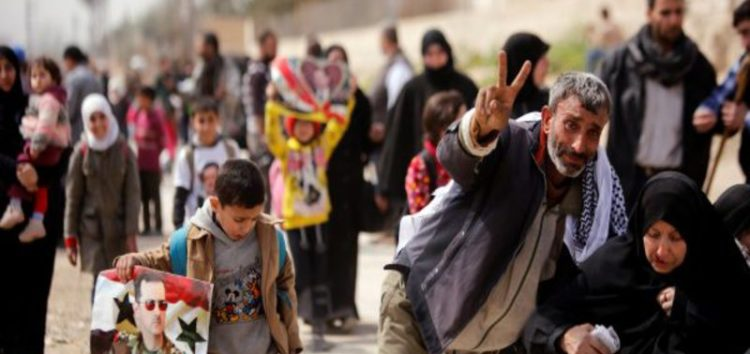 Thousands flee Eastern Ghouta in 'the largest' exodus in one day in Syria's seven-year war
