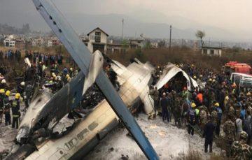 Bangladesh plane carrying 67 passengers' crash-lands at Kathmandu Airport