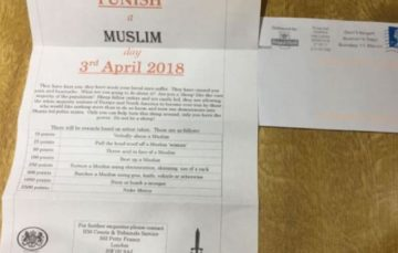 MSPs to discuss concerns over 'vile' Islamophobic 'punish a muslim' letters