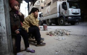 Syrian regime prevents humanitarian aid for 200,000 trapped civilians  from entering Eastern Ghouta