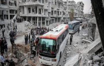 Evacuation continues as 13th convoy departs Eastern Ghouta