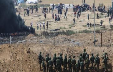 Israeli soldiers wound 3 Palestinians along Gaza border