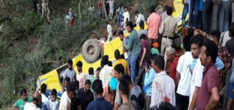 Dozens of children killed as India school bus plunges off a cliff