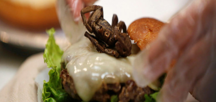 At a US burger joint tarantula is an option