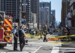 Toronto: 10 killed as van ploughs into crowd