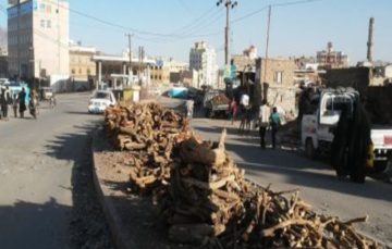 Saudi blockade has caused a chronic shortage of propane gas forcing Yemenis to resort to burning firewood and rubbish to cook food