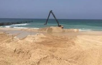 Israel begins building marine barrier along Gaza border