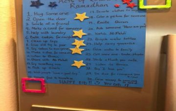 Mum makes 30 acts of kindness chart for kids to do in Ramadaan