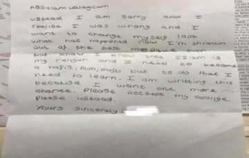 9 year old writes letter to Madrasah after he is expelled