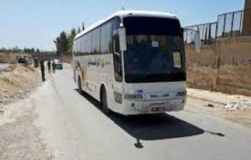 Convoy of buses arrives in Syria's al-Bad #Evacuation