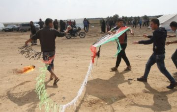 Gaza's kite fliers are taking on Israeli drones with nets