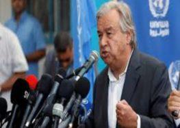 Antonio Guterres: Gaza is close 'to the brink of war'