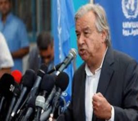 Antonio Guterres: Gaza is close 'to the brink of war'