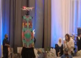 Saudi fashion show startles audience with ghoulish drone catwalk