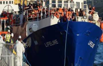 Stranded rescue ship with over 200 on board docks in Malta