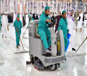 Mataf at Masjidul Haram cleaned in record time amid huge crowd on 27th night