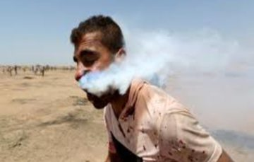 Israeli tear-gas canister puts Gazan man on life support