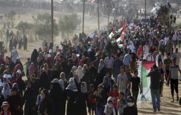 Scores of women wounded by Israeli forces in Gaza rally