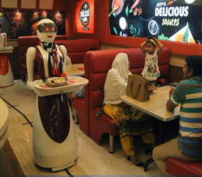 Growing trend – 'Robot waiters' serving food in India