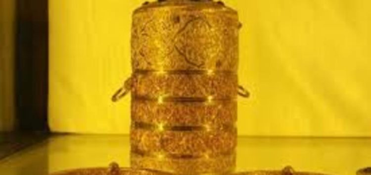 India: diamond-studded gold lunch box amongst Artefacts stolen from Nizam's museum