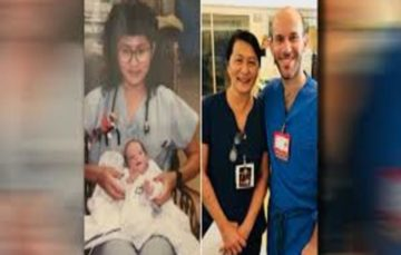 Premature baby cared for by nurse returns to same hospital years later as doctor
