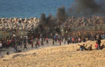 29 Palestinians injured on Gaza beach