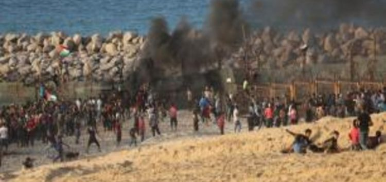 29 Palestinians injured on Gaza beach