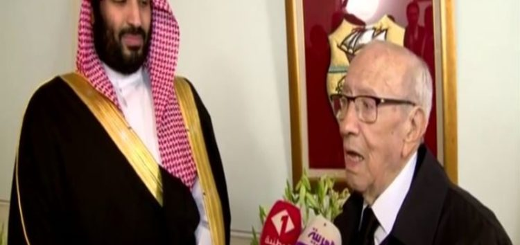 Bin Salman limits his visit to Tunisia to only a meeting with Essebsi