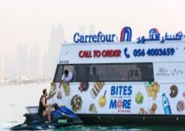 World's first floating supermarket sets sail in Dubai