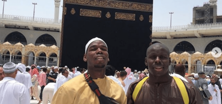 Manchester United's Pogba goes on Umrah