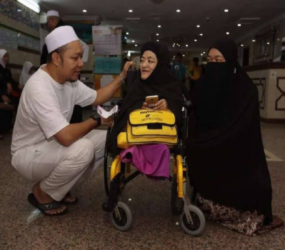 Free seats for disabled hujjaaj for the first time this year