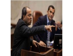 Arab MK tears up 'deal of the century' in Knesset and steps on it