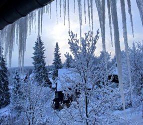 Snow blankets Europe