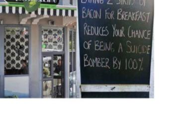 Cape restaurant's menu board leaves bitter taste