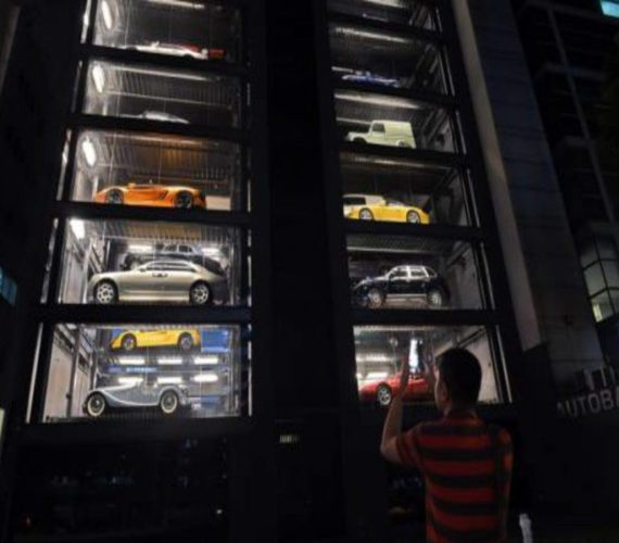 Singapore car 'vending machine' dispenses with tradition
