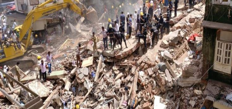 Deaths in Mumbai building collapse, 'dozens' trapped