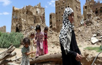 Rights group says air strikes over two months killed dozens including children, amounts to war crimes in Yemen