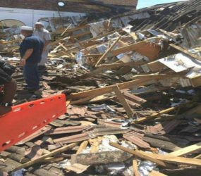 Three injured after mosque roof collapses