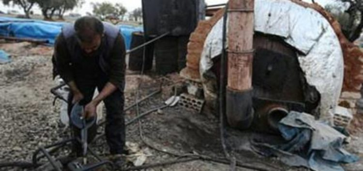 Nearly 100 makeshift refineries have cropped up in Syria's northwest, processing precious crude