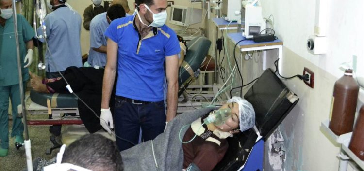Another chlorine attack by the Assad regime leaves scores injured, suffocating