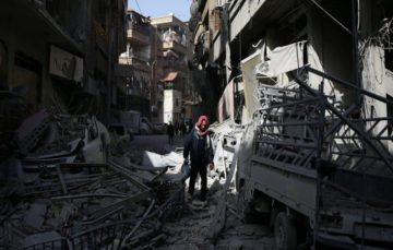 """Syrian army prepares """"huge"""" operation in Douma as pressure mounts"""